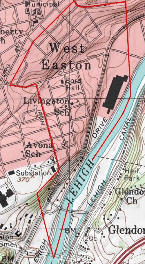 West Easton Topography-detailed