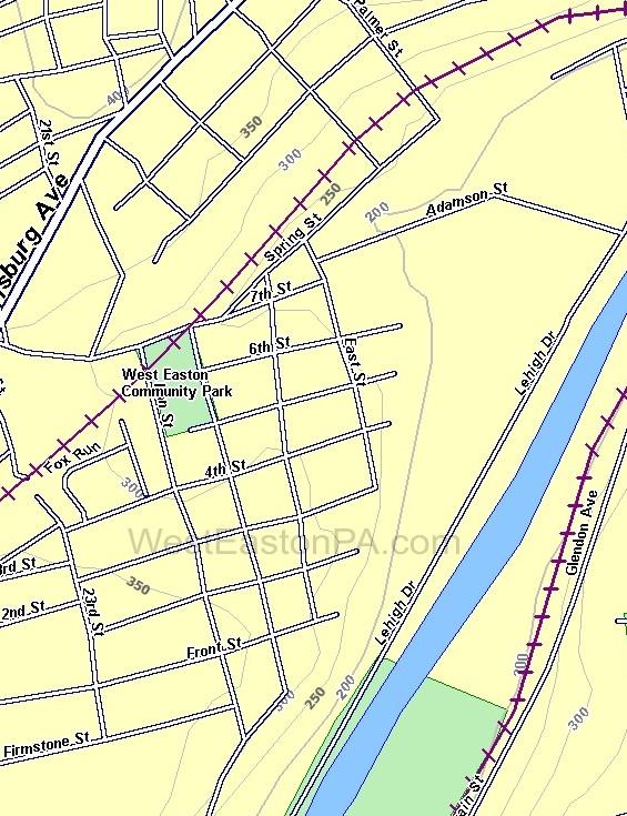 West Easton Topography