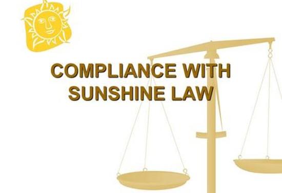 sunshine law